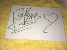 Carton Dedicace Autograph Jean-Yves Lafesse