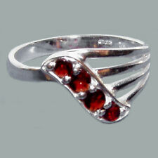 Size 5 Bohemian Rose Cut Garnet Sterling Silver Ring #SR-598 Jewelry Certificate