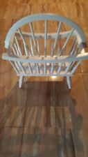 """Vtg Early American Colonial Magazine Rack WhiteLarge 20"""" x 25 ' tall 2 Sections"""