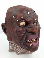 Evil Witch Doctor Halloween Costume Mask - Bone Pierced Flesh, Blisters & Scars