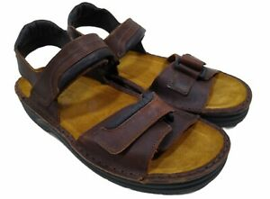 NAOT Andes Flat Sandal Brown Mens Size 43 US 10-10.5