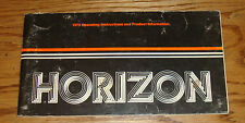 Original 1979 Plymouth Horizon Owners Operators Manual 79