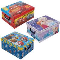 Disney Kids Cardboard Toy Storage Boxes Lids Kids Arts Crafts Box Collapsible