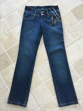 BILLABONG WOMENS JEANS, BLUE, SIZE 6, LOW RISE, STRAIGHT LEG, STUNNING  #1176