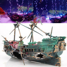 Aquarium Ornament Wreck Sunk Ship Air Split Shipwreck Fish Tank Cave Decor