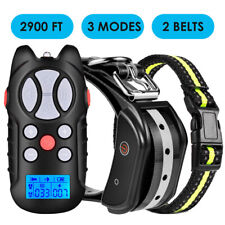 Dog Shock Training Collar Rechargeable Remote Control Waterproof IP67 984 Yards