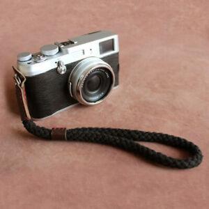 Black Digital Mirrorless Camera Wrist Hand Strap Soft Cotton Linen New Type .