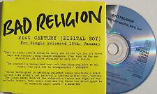 Punk BAD RELIGION CD 21st Century (Digital Boy) UK PROMO 1994 UNPLAYED +Skr