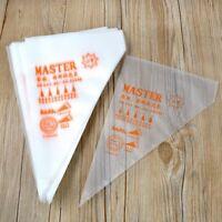 Lots 100PCS Disposable Piping bag Icing Nozzle Fondant Cake Decorating Pastry