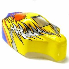 18503 Off Road Nitro Rc 1/16 Escala Buggy Body Shell Flame Sin Cortar