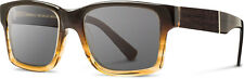 Shwood Haystack 50/50 Sweet Tea Frame Ebony Inlay Grey Lense Sunglasses
