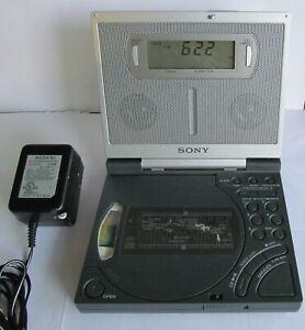 SONY ICF-CD2000 DREAM MACHINE PORTABLE WORLD TRAVEL CD PLAYER AM/FM CLOCK RADIO