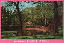 Glencairn Gardens, Rock Hill, South Carolina, Azaleas, Trees, Water --- Postcard