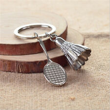 Badminton Bat Key Chains Key chain Key fob Keyring Holder Creative 3D Model Gift