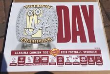 2018 Alabama Crimson Tide Football Schedule A Day Poster
