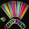 """100/1000 8"""" Glow Sticks Bracelets Necklaces Neon Colors Party Favors Disco Rave"""