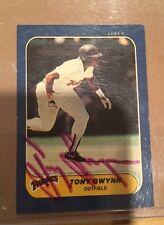 1986 Fleer Mini Tony Gwynn Auto / Signed Rare