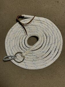 22' LONG LUNGE LINE LEAD ROPE W/PARELLI TWIST SNAP FOR NATURAL HORSE TRAINING