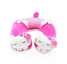 Finex Hello Kitty Pink U Shape Travel Home Car Seat Neck Rest Headrest Pillow
