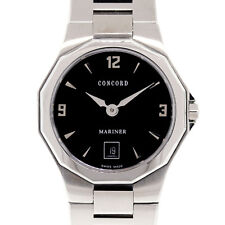 Concord Mariner Stainless Steel Black Dial Ladies Watch