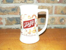 "Vintage Schlitz Ceramic Beer Mug~""The Beer That Made Milwaukee Famous"""