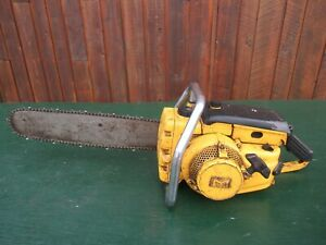 """Vintage McCULLOCH 1-53 5189 Chainsaw Chain Saw with 18"""" Bar"""