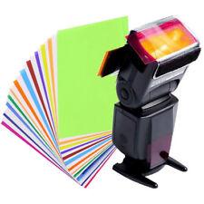 12 Colors Set Gel Filter For Strobe Light Photography Flash Studio Lighting New
