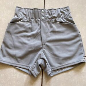 Vintage 70s NOS New MAJESTIC Women's Gym Coach Shorts S Polyester Gray Baseball