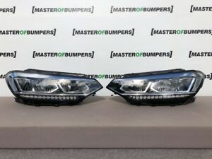 VW TOURAN BLUEMOTION 2015-2018 PAIR HEADLIGHTS FULL LED DRL LHD GENUINE