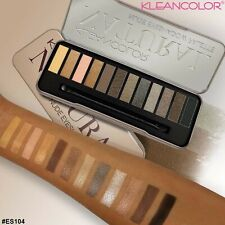Makeup Cosmetic Shimmer Matte Naked 12 Colors Pigment Eyeshadow Palette Sombras