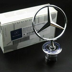 Mercedes-Benz Front Hood Ornament Mounted Star Logo Badge Emblem A2108800186 OEM