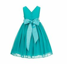 Yoryu Chiffon V-neck Bodice Flower Girl Dress Wedding Reception Occasions 1503NF