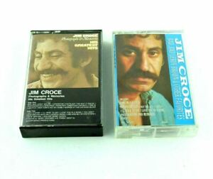 Jim Croce Bad Leroy Brown 2 Tapes Vintage Music Audio Cassette Tape Case Artwork