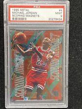 1995-96 Fleer Metal Michael Jordan #4 Scoring Magnets PSA 9 Mint