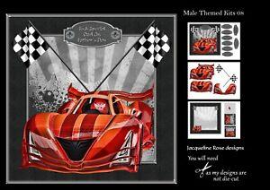 Male Themed Kits 08 Decoupage 3 x A4 Sheet Not Die-Cut