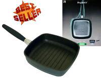 Grillpfanne Steakpfanne Bratpfanne Griff abnehmbar Induktion Elektrisch Ceran 24