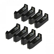 8pcs Single Battery Charger For 18650 16340 14500 AA AAA CR123A Battery From USA