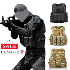 Military Tactical Vest Airsoft Assault Adjustable Molle Combat Plate Holder Vest