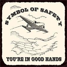 (VMA-L-6435) Airplane Safety Symbol Vintage Aviation Airplane Retro Tin Sign