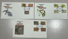 Australia 1982 Reptiles & Amphibians Set Fdcs Frog Turtle Snake Gecko Crocodile