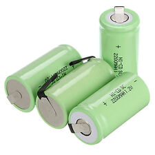 8 X Sub C SC 1.2V 2200mAh Ni-Cd NiCd/NiMh Batterie Ricaricabili ,Verde