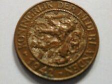1942 KONINGRIJK DER NEDERLANDEN 1 Cent Netherlands coin #LTBL42