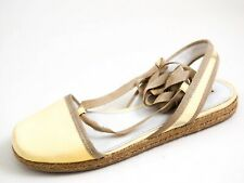 Prada Slingback Sandals Yellow Patent Leather Womens Size US 6 EU 36 $580