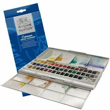 Winsor & Newton Cotman Studio Watercolour Studio Set - 45 Half Pans Brand New