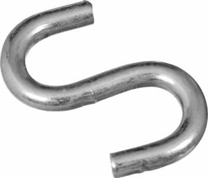 """NATIONAL Hardware  USA ~  N121-616 1 1/2"""" OPEN S HOOK ZINC PLATED ~ 1pack of 4"""