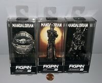 Disney Star Wars FiGPiN Set: Mandalorian - The Child & IG-11 - CHROME