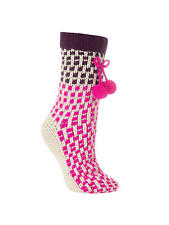 1be783dc319 John Lewis Ombre Knitted Pom Pom Novelty Ankle Socks Neon Pink Purple UK