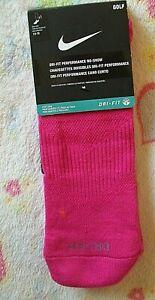 "Nike GOLF ""DRI-FIT PERFORMANCE"" NO-SHOW SOCKS -Pink -MEN'S -Extra Large 12-15"