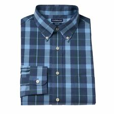 Mens XL Plaid Shirt 17.5 32/33 Croft & Barrow Classic Fit Easy Care Top