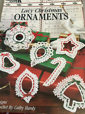 """New listing Leisure Arts """"Lacy Crocheted Christmas Ornaments"""" - Leaflet - New - 1990"""